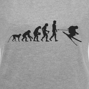 Ski Evolution T-Shirts - Women's T-shirt with rolled up sleeves
