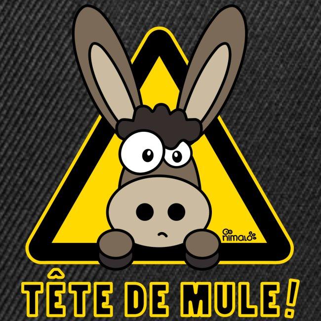 Casquette snapback Âne, Tête de Mule
