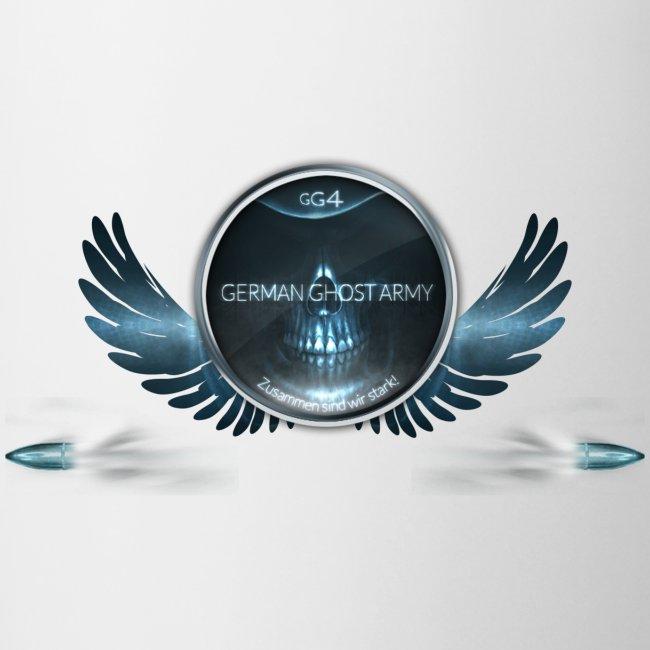 Tasse Logo mit Flügeln