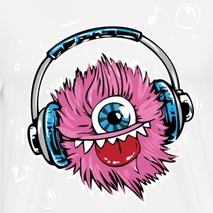 Pink Dj monster. - Men's Premium T-Shirt