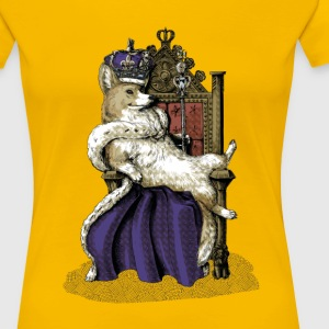 Queen Corgi T-Shirts - Frauen Premium T-Shirt
