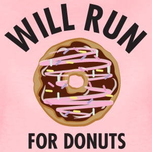 Will Run For Donuts T-Shirts - Frauen Premium T-Shirt