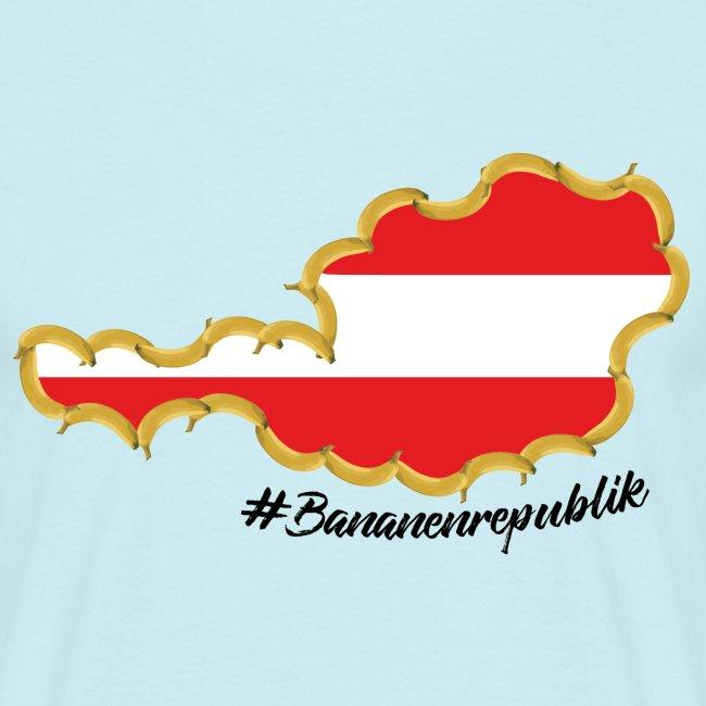 #Bananenrepublik Umriss Österreich Herren-Shirt