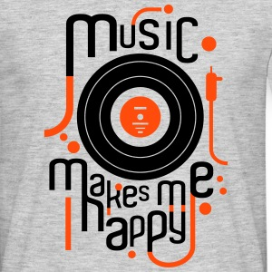 music makes me happy - T-shirt Homme