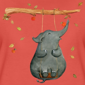 Pomegranate elephant T-Shirts - Women's Premium T-Shirt