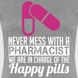 Never mess with a pharmacist T-Shirts - Women's Premium T-Shirt