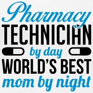 Pharmacy technician by day. Best mom by night T-shirts - Dame premium T-shirt
