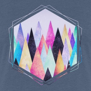 Heather blauw Hipster driehoeken (geometrie) Abstract Bergen  T-shirts - Vrouwen Premium T-shirt