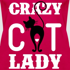 Crazy Cat Lady Topit - Naisten premium hihaton toppi