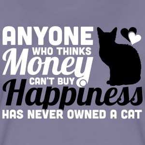 Buy Happiness - Own a cat T-shirts - Dame premium T-shirt