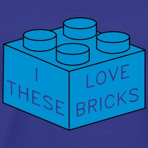 Love bricks T-Shirts - Männer Premium T-Shirt