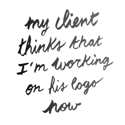 My client thinks | T-shirts Design