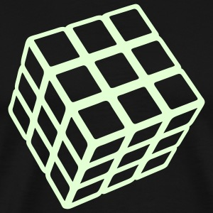 Rubik's Glow in the Dark - Mannen Premium T-shirt