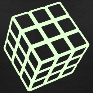 Rubik's Glow in the Dark - T-skjorte med V-utsnitt for kvinner
