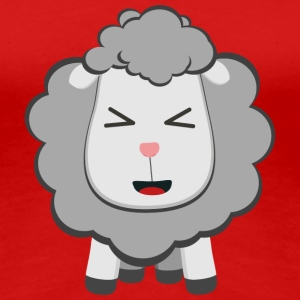 Happy kawaii sheep T-Shirts - Women's Premium T-Shirt