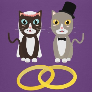 Wedding cats with rings Shirts - Kids' Premium T-Shirt
