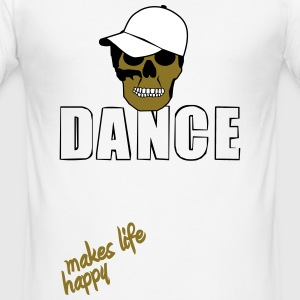 dance makes life happy (boy version) T-Shirts - Männer Slim Fit T-Shirt