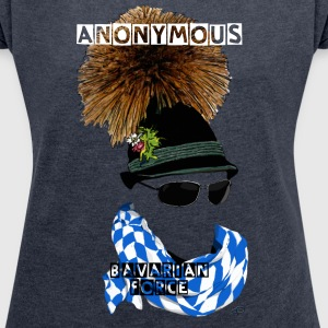 Anonymous (Department Bavaria) T-shirts - Dame T-shirt med rulleærmer