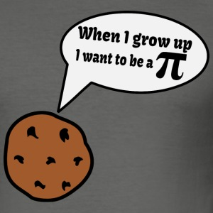 Cookie Pi Nerd T-Shirts - Men's Slim Fit T-Shirt