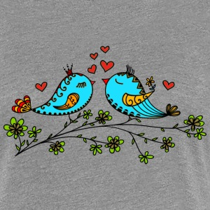 Birds in love hearts, Valentines day, birdie, cute T-Shirts - Women's Premium T-Shirt