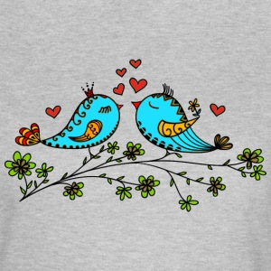 Birds in love hearts, Valentines day, birdie, cute Tee shirts - T-shirt Femme
