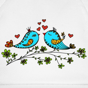 Birds in love hearts, Valentines day, birdie, cute Caps & Hats - Baseball Cap