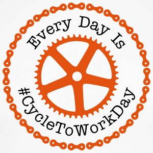 Everyday is #CycleToWorkDay  Langarmshirts - Männer Baseballshirt langarm