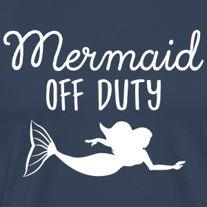 Mermaid Off Duty T-skjorter - Premium T-skjorte for menn