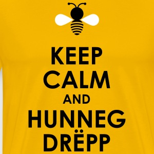 Keep calm and Hunnegdrëpp - Männer Premium T-Shirt