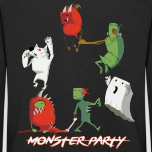 Monster Party - Kinder Premium Langarmshirt