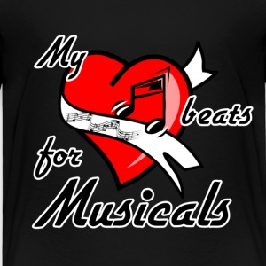 My heart beats for Musicals T-Shirts - Kinder Premium T-Shirt
