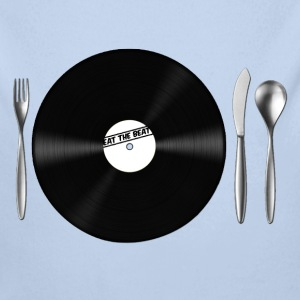 Eat the Beat Vinyl Schalplatte Besteck - Baby Bio-Langarm-Body