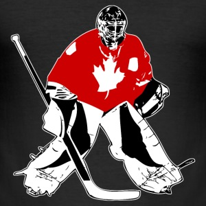 Hockey Keeper - Canada T-Shirts - Männer Slim Fit T-Shirt