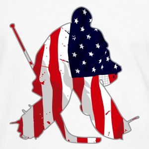 Hockey Keeper - USA T-Shirts - Männer Kontrast-T-Shirt