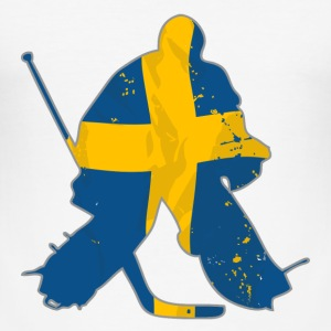 Hockey Keeper - Sweden T-Shirts - Männer Slim Fit T-Shirt