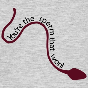 winning sperm - Men's T-Shirt