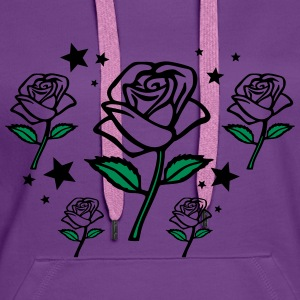rose design 3 Sweat-shirts - Sweat-shirt à capuche Premium pour femmes