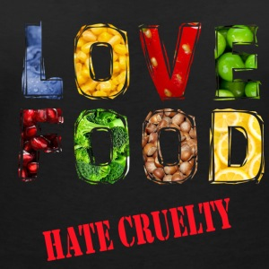 Love food hate cruelty - Women's V-Neck T-Shirt