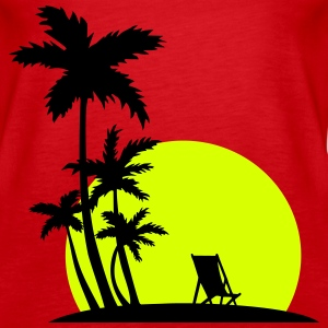 Paradise - Palm trees and sunset Topper - Premium singlet for kvinner