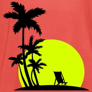 Paradise - Palm trees and sunset Topy - Tank top damski Bella