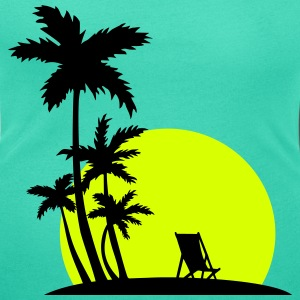 Paradise - Palm trees and sunset Magliette - T-shirt scollata donna