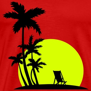 Paradise - Palm trees and sunset T-shirts - Premium-T-shirt herr