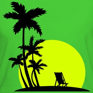 Paradise - Palm trees and sunset T-shirts - Vrouwen Bio-T-shirt