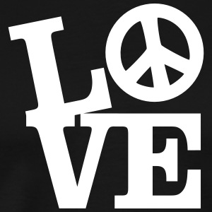 Love - Peace T-shirts - Herre premium T-shirt