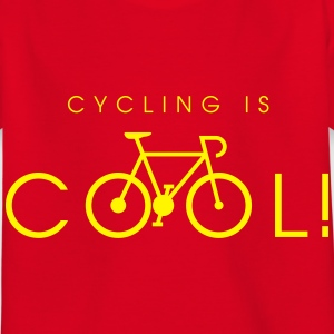 cycling_is_cool_09_2016 T-Shirts - Kinder T-Shirt