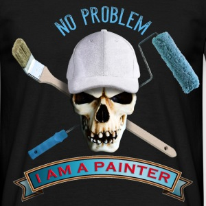painter_skull_brush_092016_a T-Shirts - Männer T-Shirt