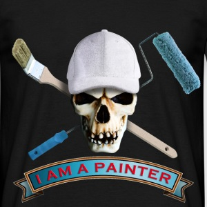 painter_skull_brush_092016_c T-Shirts - Männer T-Shirt
