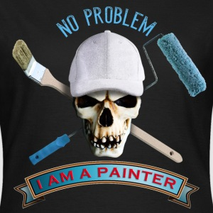 painter_skull_brush_092016_a T-Shirts - Frauen T-Shirt