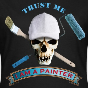 painter_skull_brush_092016_b T-Shirts - Frauen T-Shirt