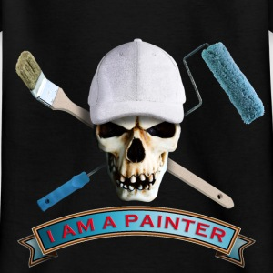 painter_skull_brush_092016_c T-Shirts - Kinder T-Shirt